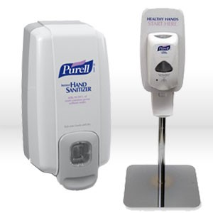 "Picture of 2426-DS Gojo Purell Table Top Stand,PURELL TFX Table Top Stand,""Healthy Hands Start Here"" Sign"