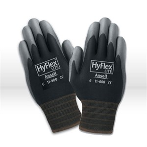 Picture of 11-600-6B Ansell Hyflex Gloves,Light Duty Multi-Purpose Gloves,Knitwrist & Palm Coated,Size 6