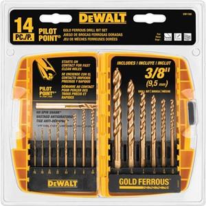 Picture of DW1169 DeWalt Metal Drilling,14-Pc Pilot Point Set (Tough Case)