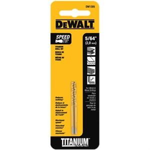 "Picture of DW1305 DeWalt Metal Drilling,5/64"" Titanium Drill Bit Split Point"