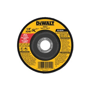 Picture of DW4514 DeWalt Grinding Wheel,4-1/2X1/4X7/8 METAL FAST CUT DCW