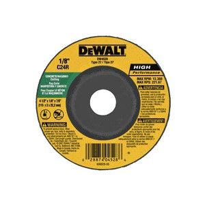 "Picture of DW4528 DeWalt Bonded Abrasive,4-1/2""x1/8""x7/8"" Concrete/Masonry Cutting Wheel"