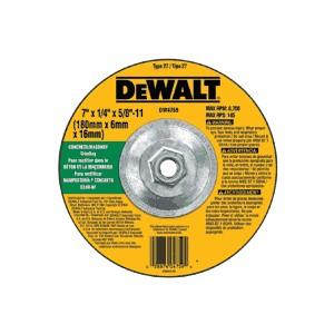 "Picture of DW4759 DeWalt Bonded Abrasive,7""x1/4""x5/8""-11 Concrete/Masonry Grinding Wheel"