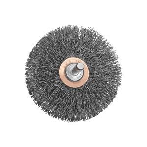 "Picture of DW4903 DeWalt Wire wheel,3"" Crimped Flat Faced End Brush/Carbon Steel 1/4"" Stem .014"""