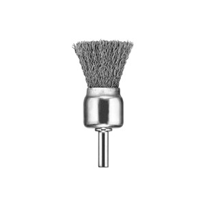 """Picture of DW49053 DeWalt Wire Wheel,1""""x1/4"""" XP .020 Stainless Crimp Wire End Brush"""