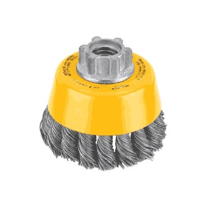 """Picture of DW4910 DeWalt Knotted Cup Brush,Carbon Steel 020"""",3""""x 5/8-11"""",RPM/14,000"""