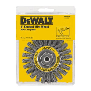 "Picture of DW4935 DeWalt Wire wheel,4""xM10x1.25 Full Cable Twist Wire Wheel/Carbon Steel .020"""