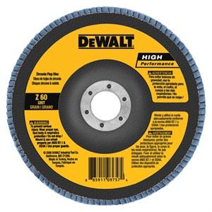 """Picture of DW8379 DeWalt Flap Disc,7""""x5/8""""-11 120 GRT Zirconia T27 Flap Disc"""