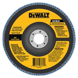 "Picture of DW8383 DeWalt Flap Disc,6""x7/8"" Z120 T29 HP flap disc"