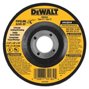 "Picture of DW8434 DeWalt Bonded Abrasive,4-1/2""x1/8""x7/8"" eline Cutting/Grinding Wheel"