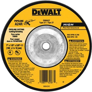 "Picture of DW8437 DeWalt Bonded Abrasive,7""x1/8""x5/8""-11 eline Cutting/Grinding Wheel"