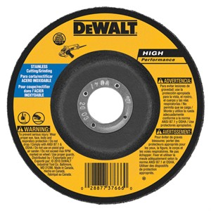 "Picture of DW8454 DeWalt Bonded Abrasive,5""x1/8""x7/8"" Stainless Steel Grinding Wheel"