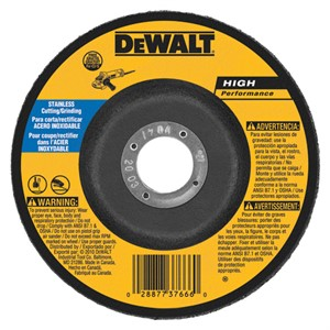 """Picture of DW8457 DeWalt Bonded Abrasive,6""""x1/8""""x7/8"""" T27 stainless wheel"""