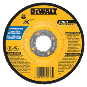 "Picture of DW8465 DeWalt Bonded Abrasive,6""x1/4""x7/8"" T27 stainless wheel"