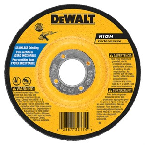 "Picture of DW8468 DeWalt Bonded Abrasive,9""x1/4""x7/8"" Stainless Steel Grinding Wheel"
