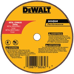 "Picture of DW8712 DeWalt Cut Off Wheel,3""x.035""x3/8"" A60T Mtl Thi n Cut-Off Whl-#1"