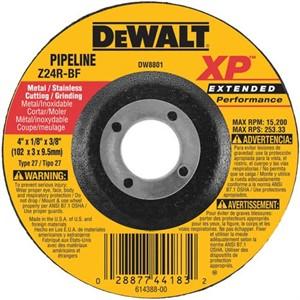 "Picture of DW8801 DeWalt Bonded Abrasive,4""x1/8""x3/8"" Zirconia Abrasive"