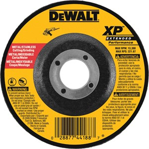 "Picture of DW8802 DeWalt Bonded Abrasive,4""x1/8""x5/8"" Zirconia Abrasive"