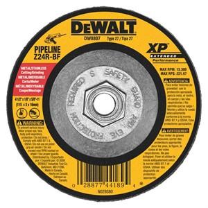 "Picture of DW8807 DeWalt Bonded Abrasive,4-1/2""x1/8""x5/8""-11 Zirconia Abrasive"