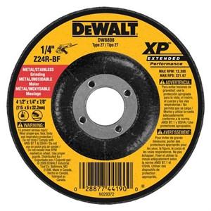 "Picture of DW8808 DeWalt Bonded Abrasive,4-1/2""x1/4""x7/8"" Zirconia Abrasive"