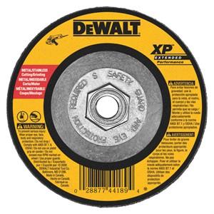 "Picture of DW8809 DeWalt Bonded Abrasive,4-1/2""x1/4""x5/8""-11 Zirconia Abrasive"