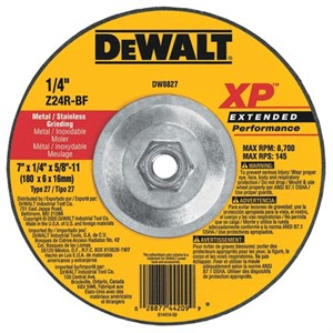 "Picture of DW8827 DeWalt Bonded Abrasive,7""x1/4""x5/8""-11 Zirconia Abrasive"