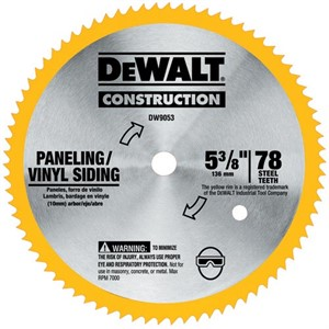 Picture of DW9053 DeWalt Circular Saw Blade,5-3/8,78 TOOTH