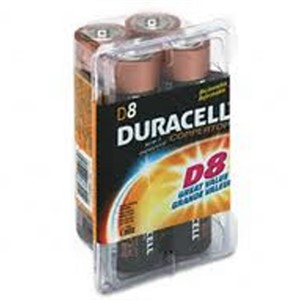 Picture of MN13RT8Z Duracell Coppertop Value Batteries,D,8 Pack Reclosable