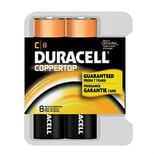 Picture of MN14RT8Z Duracell Coppertop Value Batteries,C,8 Pack Reclosable