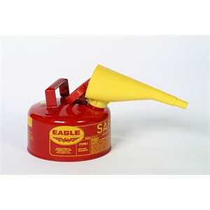 Picture of UI-10-FS Eagle Type 1 Safety Can,Safety oily waste cans,includes/Funnel,Metal,Red,1 gallon