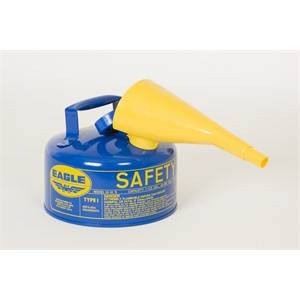 Picture of UI-10-FSB Eagle Cans,Metal-Blue w/F-15 Funnel,1 Gal