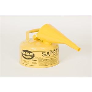 Picture of UI-10-FSY Eagle Cans,Metal-Yellow w/F-15 Funnel,1 Gal