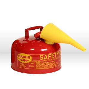 Picture of UI-20-FS Eagle Type 1 Safety Can,Metal,includes/F-15 funnel,Red,2 gal
