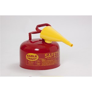 Picture of UI-25-FS Eagle Type 1 Gasoline Safety Can,2.5 Gal,Red,includes/Funnel