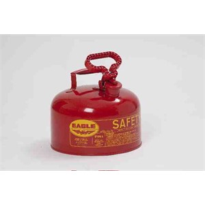 Picture of UI-25-S Eagle Type 1 Gasoline Safety Can,2.5 Gal,Red,includes/Brass pour spout