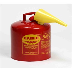 Picture of UI-50-FS Eagle Type 1 Safety Can,Metal,includes/F-15 funnel,Red,5 gal