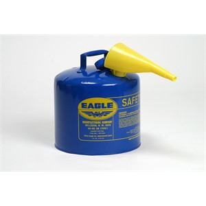 Picture of UI-50-FSB Eagle Type 1 Safety Can,includes/Funnel,Blue,5 gal