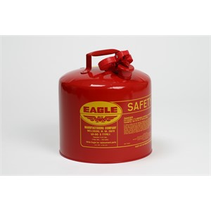 Picture of UI-50-S Eagle Type 1 Safety Can,Meets OSHA & NFPA Code 30 requirements,5 gal,Galvanized steel,Red