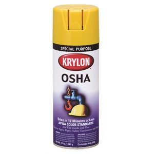 Picture of K01813 Krylon OSHA Paint,Safety Yellow,16 oz