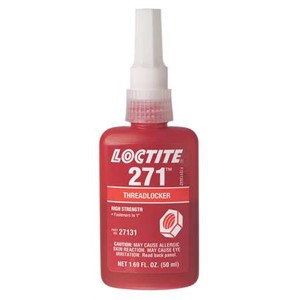 Picture of 27131 Loctite 271 Threadlocker 50 ml bottle,High strength