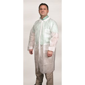 Picture of 12WPLL MCR Polypropylene,1.25 oz Lab Coat