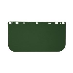 "Picture of 181541 MCR HEAD GEAR/FACE SHIELDS,8x15.5"" .040 universal Visor POLY,M Green"