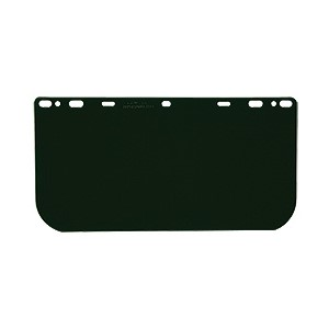"Picture of 181542 MCR HEAD GEAR/FACE SHIELDS,8x15.5"" .040 universal Visor POLY,Dark Green"