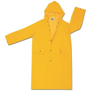 "Picture of 200CHL MCR Classic,.35mm,PVC,POLY,49"" Coat W/Att Hood,Yellow"