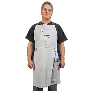 "Picture of 38136MW MCR Leather Welding Bib Apron 24""X 36"""