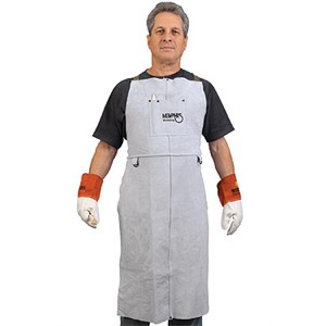 "Picture of 38142MW MCR Leather Welding Bib Apron 24""X 42"""