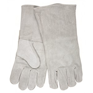 "Picture of 4155 MCR Gray""B""Shoulder Split Leather Welder Gloves"