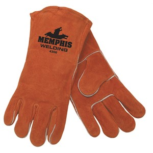 Picture of 4300 MCR Brown Select Leather Welder Gloves