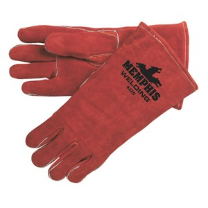 Picture of 4320 MCR Brown Select Leather Welder Gloves Sewn KEVLAR