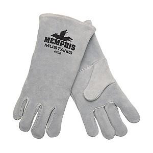 """Picture of 4700 MCR """"Mustang"""" Welders Gloves,Deluxe Gray"""